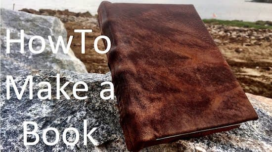 How To Make A Book By Hand Video
