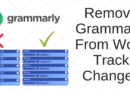 How To Modify Track Changes Name In Grammarly For Word