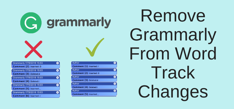 Remove Grammarly From Track Changes