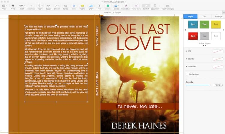 Working with images and book covers in Apple Pages