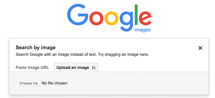 upload an image for reverse image search