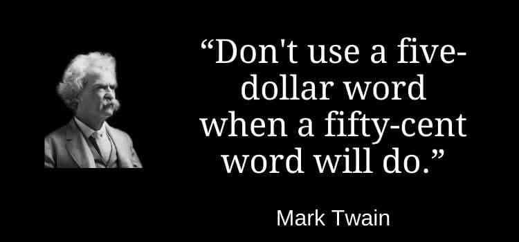 A five dollar word