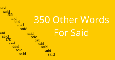 350 different words for said