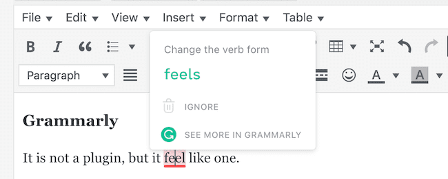 grammarly wordpress