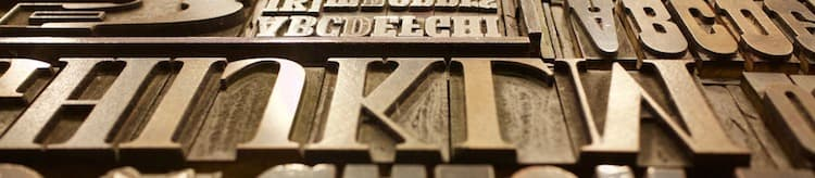 printing type letters