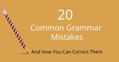 20 Common Grammar Mistakes
