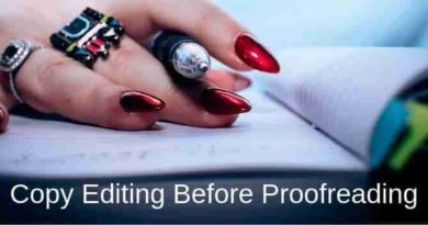 Copy Editing And Proofreading