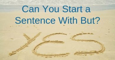 Start A Sentence With But Yes