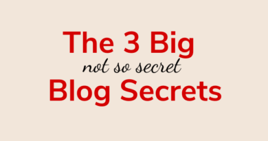 Three Blog Secrets