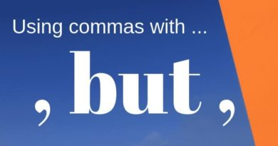 commas with but