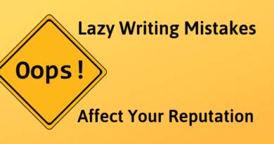 Lazy Writing Mistakes