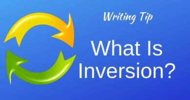 What Is Inversion In Writing