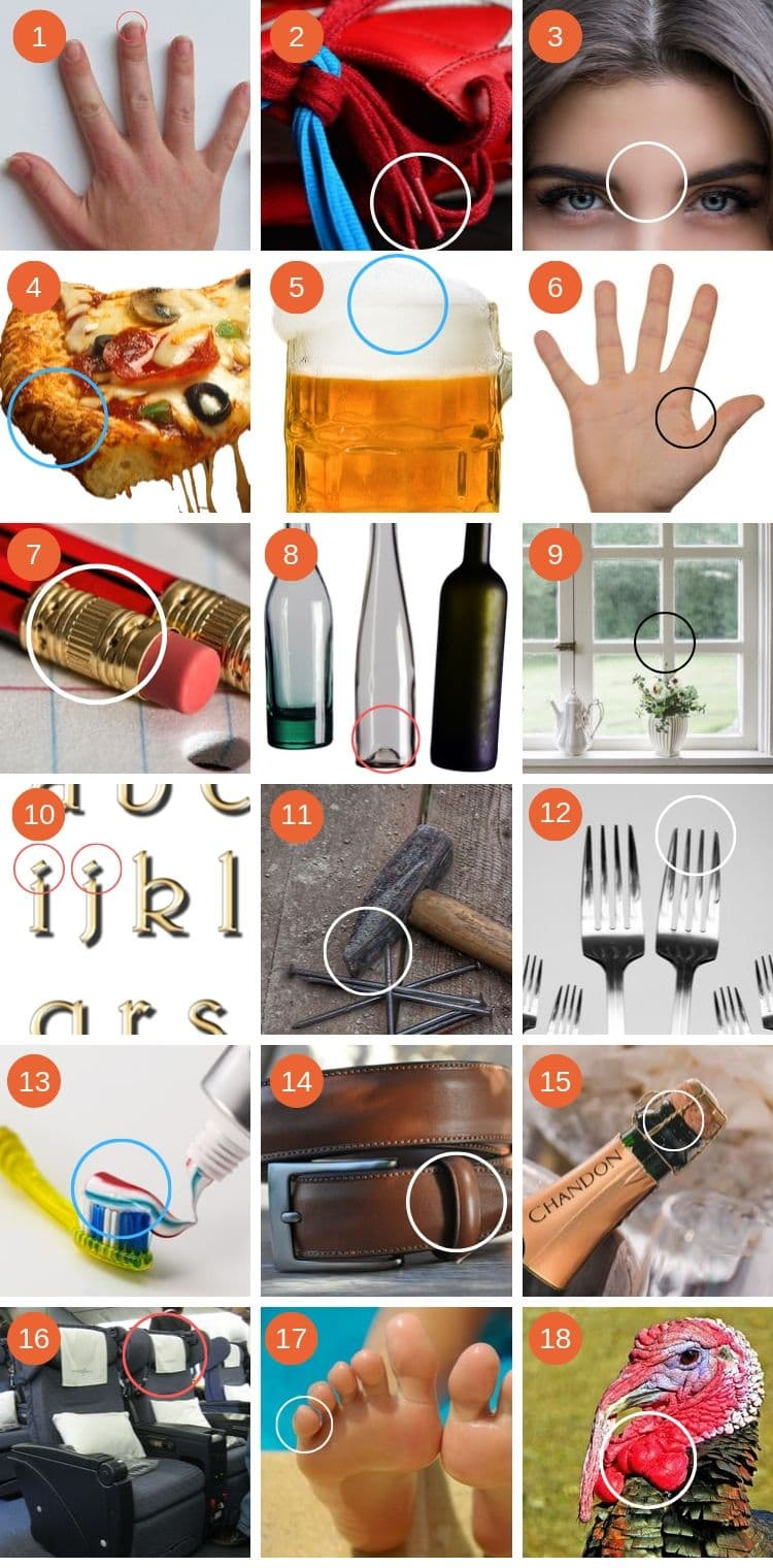 18 common objects