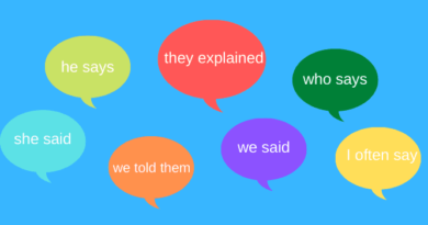dialogue tags with reported speech