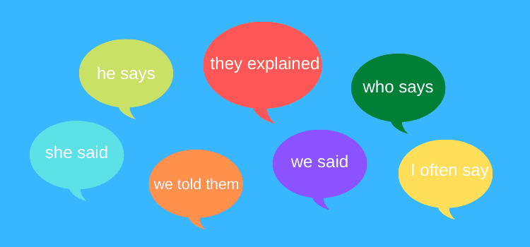 How to use dialogue tags with reported speech