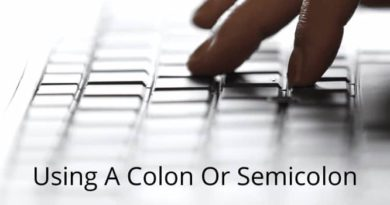 Use Colon or Semicolon