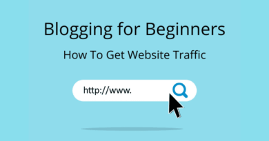 Blogging For Beginners – How To Get Website Traffic