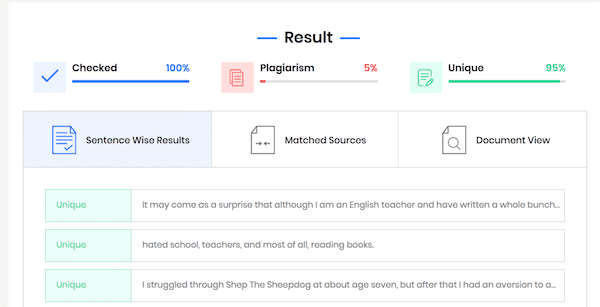 search engine reports plagiarism checker