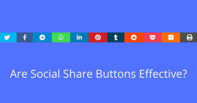 Are social share buttons effective