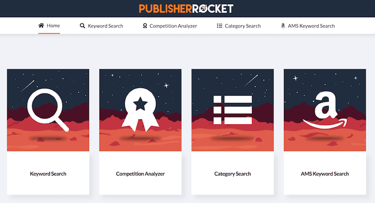 publisher rocket main menu