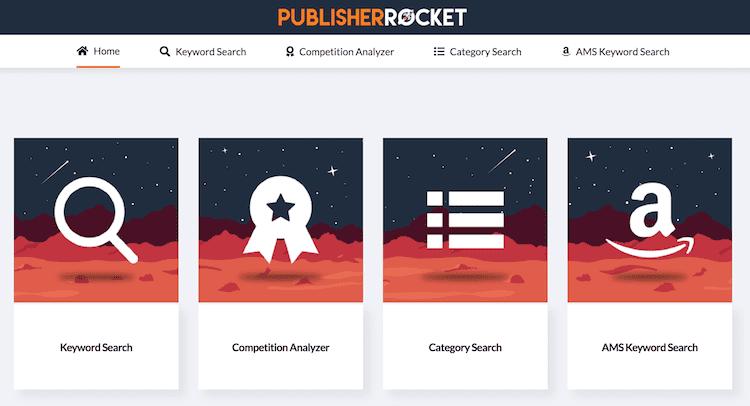 publisher rocket main menu