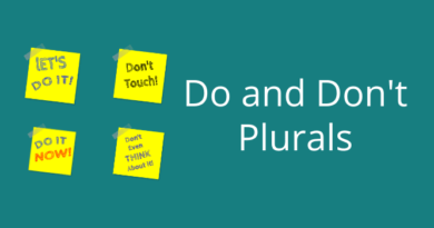 Do and don't plurals