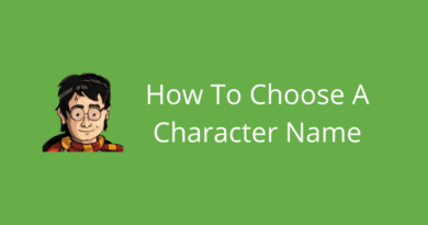 How To Choose A Character Name