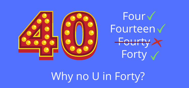 40 Spelling- No U In Forty