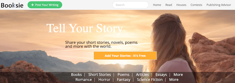 booksie short stories online