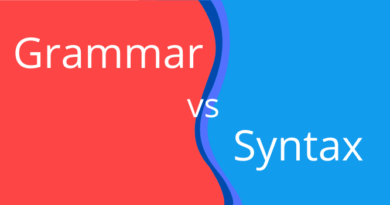 grammar vs syntax