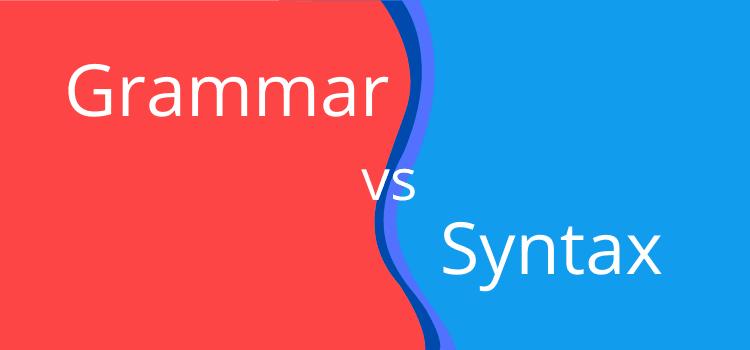 grammar vs syntax