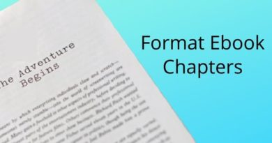 Format Ebook Chapters