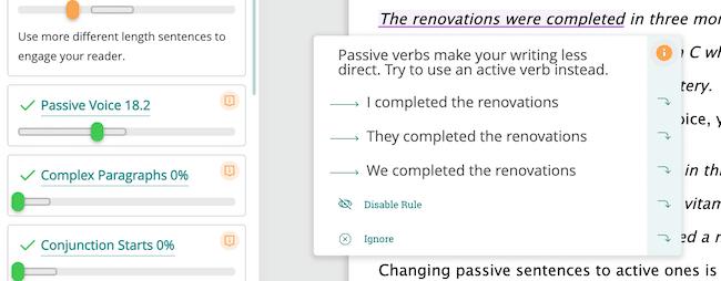 PWA passive change
