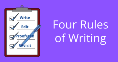 4 Rules Of Writing
