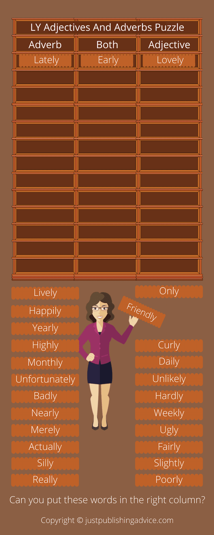LY Adjectives And Adverbs Puzzle