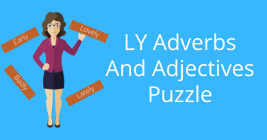LY Adverbs And Adjectives