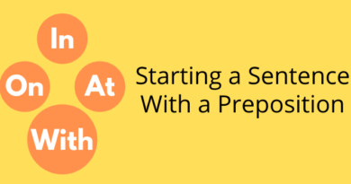 start a sentence with a preposition