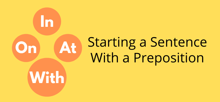 start a sentence with a preposition