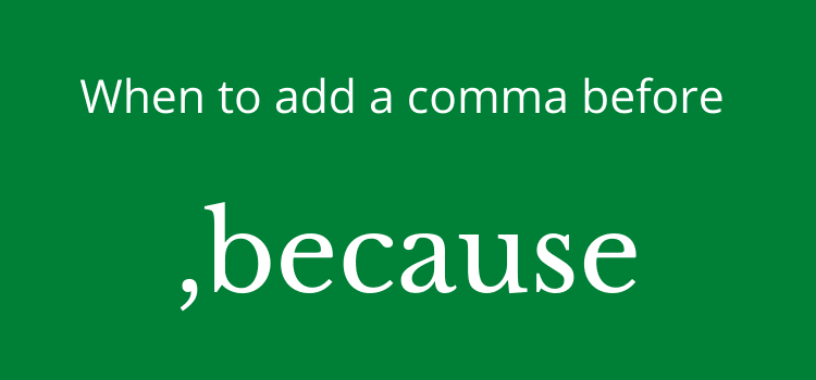 comma before because