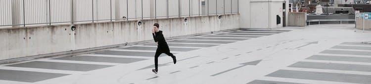 ran past