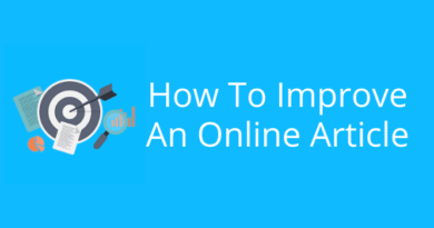 How To Improve An Online Article